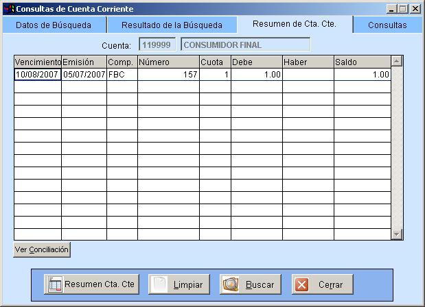 Consultas De Cuentas Corrientes
